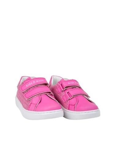 Kids A More Colorlest Çift Cırtlı Deri Kız Çocuk Sneaker  Fuşya